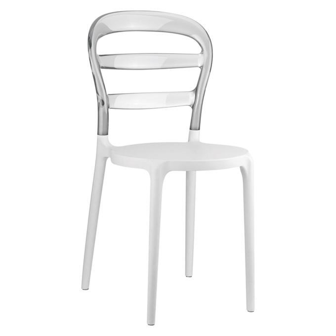 Sedia in plastica con schienale trasparente di ottima for Sedex sedie